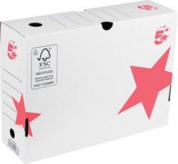 5 Star archiefdoos ft 25 x 33 x 10 cm (h x l x b), wit/rood