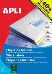 Apli etiketten ft 70 x 37 mm (b x h), rechte hoeken, 600 stuks, 24 per blad (1212)
