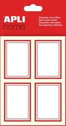 Apli verwijderbare etiketten rechthoek, rood