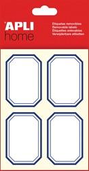 Apli Huishoudetiketten achthoek, blauw