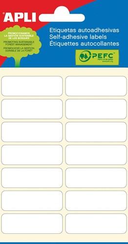 Apli witte etiketten ft 13 x 40 mm (b x h), 84 stuks, 14 per blad (2672)