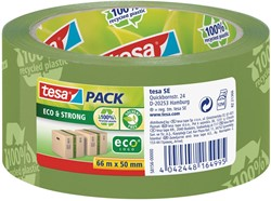 Tesapack eco & strong ecoLogo, ft 50 mm x 66 mm, PVC, groen