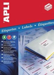 Apli etiketten ft 63,5 x 38,1 mm (b x h), ronde hoeken, 525 stuks, 21 per blad (1992)