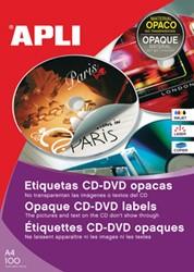 Apli etiketten voor CD/DVD doos van 25 blad, 50 etiketten, Full size