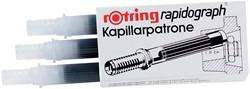 Rotring capillair inktpatroon Rapidograph, niet-etsende inkt