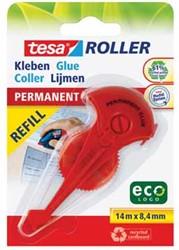 Tesa lijmroller Eco vulling permanent