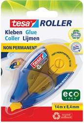 Tesa Roller navulbare lijmroller niet-permanent ecoLogo, ft 8,4 mm x 14 m, op blister