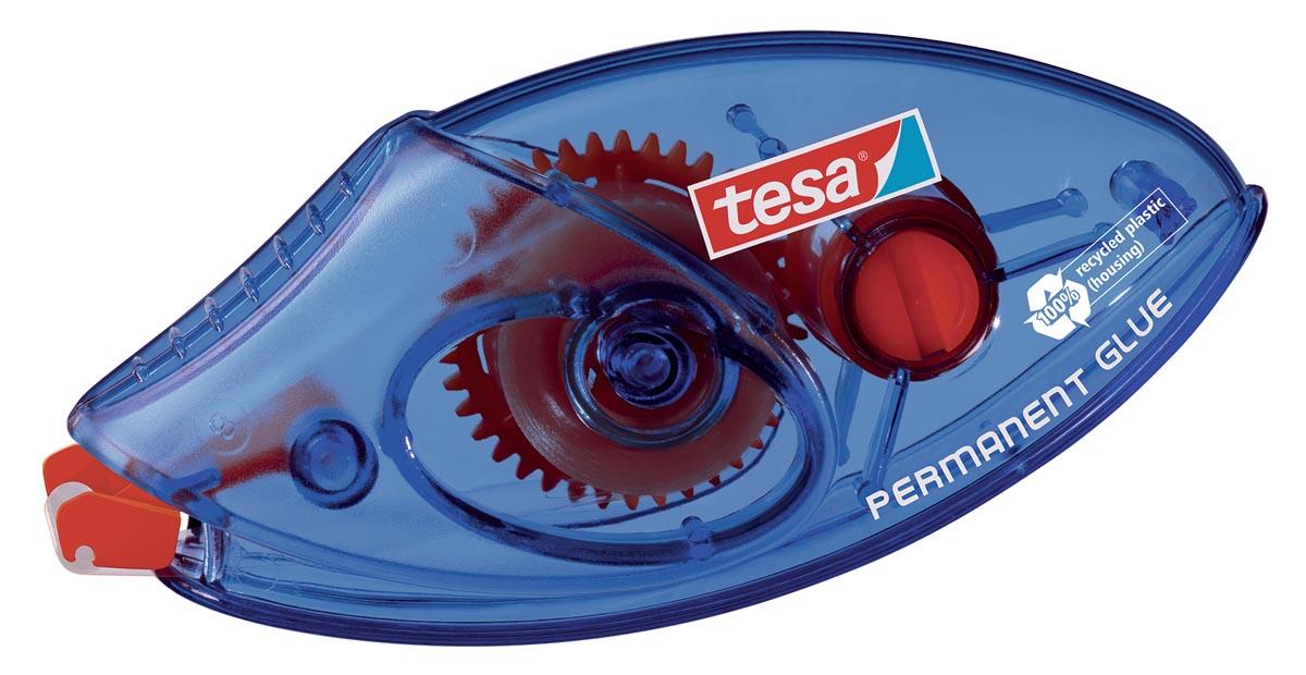 Tesa lijmroller permanent ecoLogo, ft 8,4 mm x 8 m, op blister