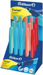 Pelikan roller Twist 2016, display met 15 stuks in geassorteerde kleuren