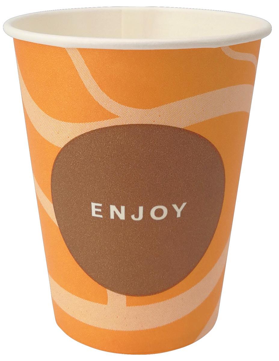 Drinkbeker Enjoy, uit karton, 150 ml, diameter 70,3 mm, pak van 100 stuks