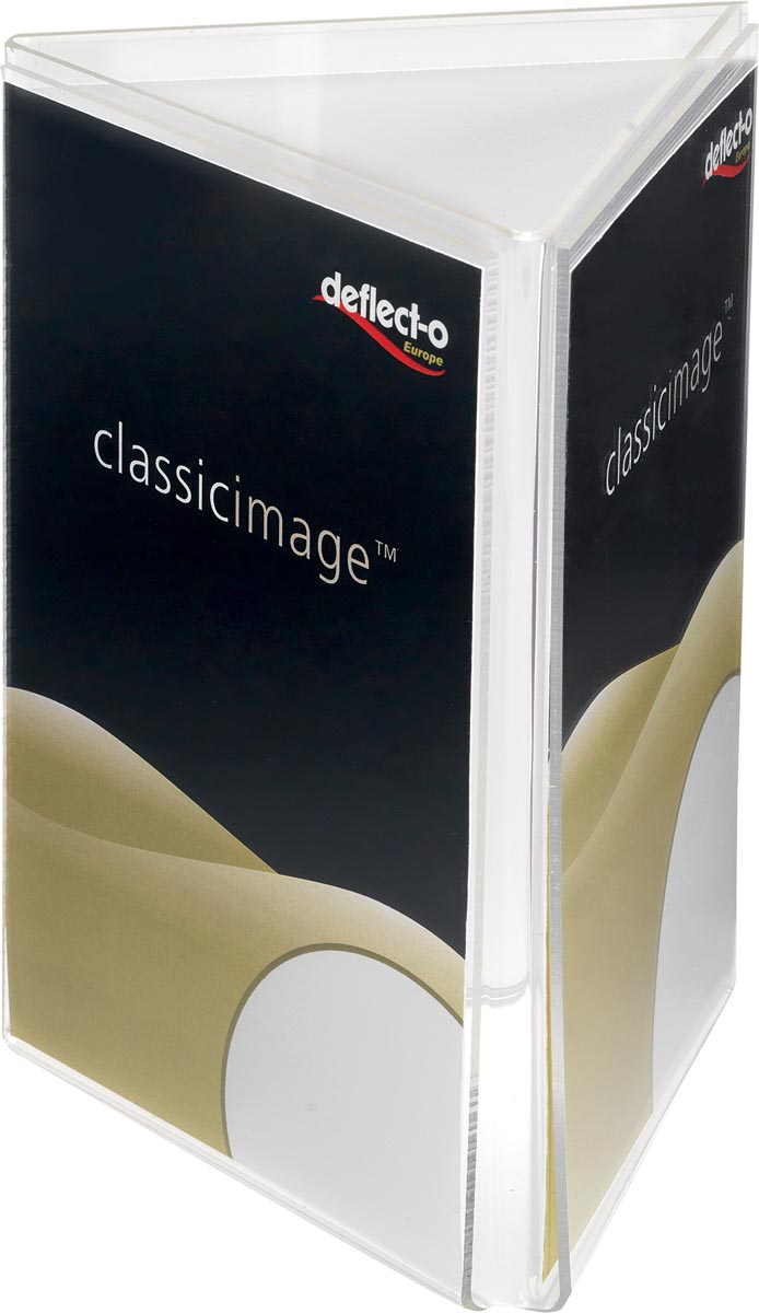 Deflecto folderhouder 3-zijdig, formaat A4