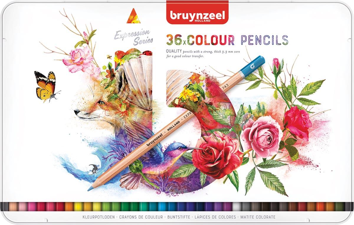 Bruynzeel kleurpotloden Expression, doos van 36 stuks