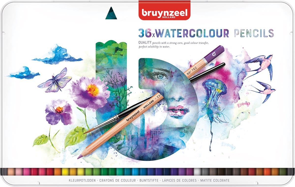 Bruynzeel aquarel potloden Expression, doos van 36 stuks