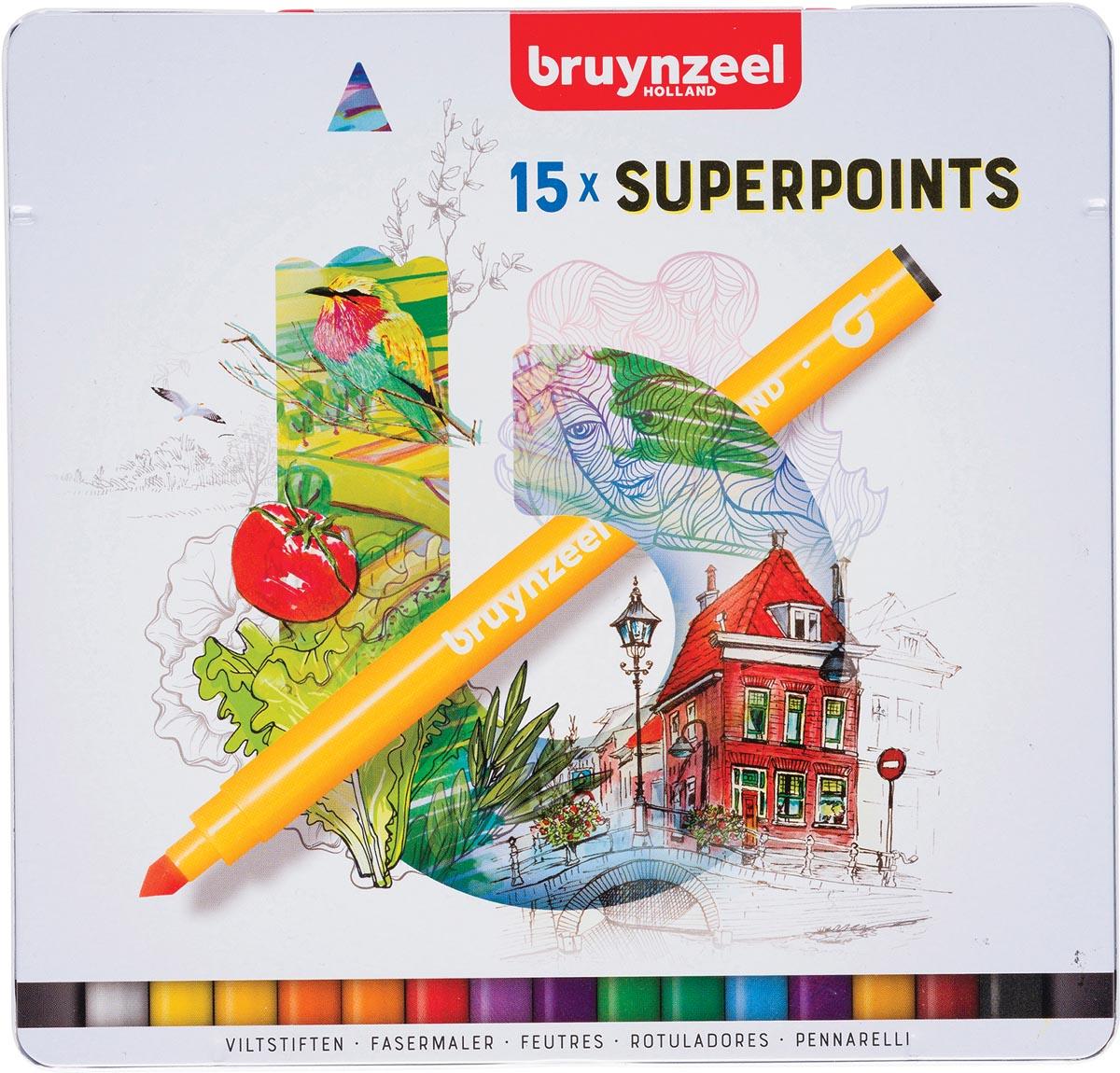 Bruynzeel viltstift Expression, doos van 15 stuks