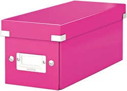 Leitz WOW opbergdoos CD Click & Store, roze