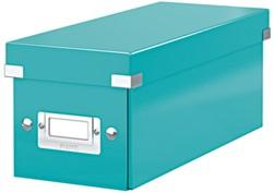 Leitz WOW opbergdoos CD Click & Store, ijsblauw