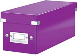 Leitz WOW opbergdoos CD Click & Store, paars