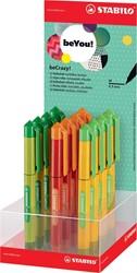 Stabilo beYou! beCrazy! roller Duo Colors, display met 12 stuks