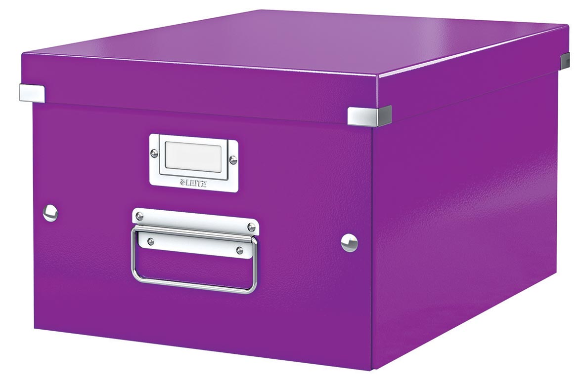 Leitz WOW opbergdoos Click & Store, ft A4, Ft 281 x 200 x 370 mm, paars