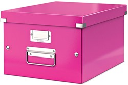 Leitz WOW opbergdoos Click & Store, ft A4, roze