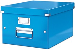 Leitz WOW opbergdoos Click & Store, ft A4, blauw