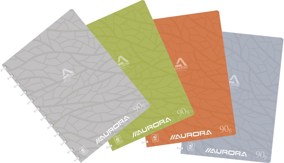 Adoc schrift Design, ft A4, 144 bladzijden, kartonnen kaft, commercieel geruit, geassorteerde kleure