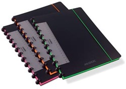 Adoc schrift Coloredge, ft A4, geruit 5 mm, met rode kantlijn, 144 bladzijden, geassorteerde kleuren