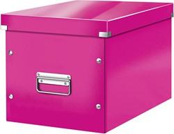Leitz Click & Store kubus grote opbergdoos, roze