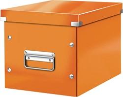 Leitz Click & Store kubus middelgrote opbergdoos, oranje