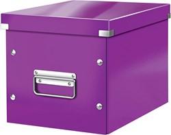 Leitz Click & Store kubus middelgrote opbergdoos, paars