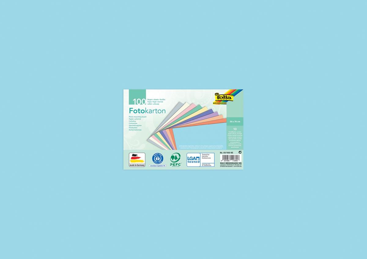 Folia gekleurd fotopapier pastel, pak van 100