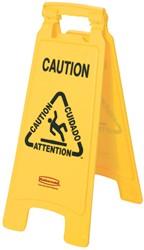Rubbermaid waarschuwingsbord, recto verso bedrukt