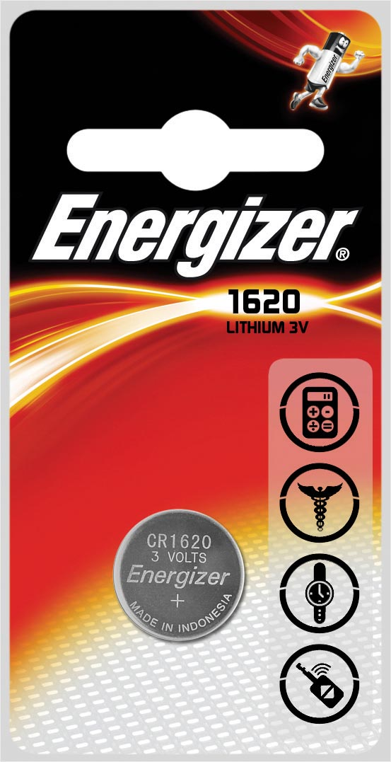 Energizer knoopcel CR1620, op blister