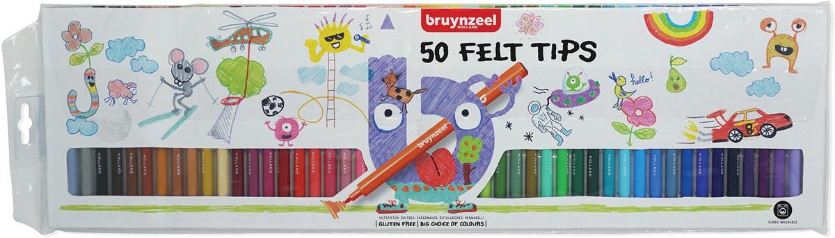 Viltstift Bruynzeel Kids blisterà 50 stuks assorti