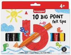 Bruynzeel Kids viltstiften Big Point, set van 10 stuks in geassorteerde kleuren