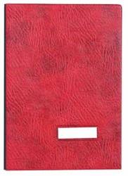 Class'ex handtekenmap, plastic omslag, rood