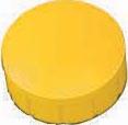 Maul magneet MAULsolid, diameter 15 x 7 mm, geel, doos met 10 stuks