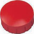 Maul magneet MAULsolid, diameter 15 x 7 mm, rood, doos met 10 stuks