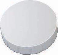 Maul magneet MAULsolid, diameter 24 x 8 mm, wit, doos met 10 stuks