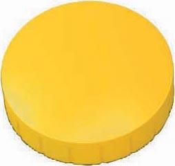 Maul magneet MAULsolid, diameter 32 x 8,5 mm, geel, doos met 10 stuks