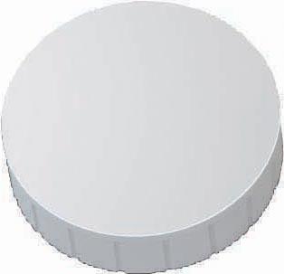Maul magneet MAULsolid, diameter 38 x 15,5 mm, wit, doos met 10 stuks