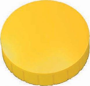 Maul magneet MAULsolid, diameter 38 x 15,5 mm, geel, doos met 10 stuks