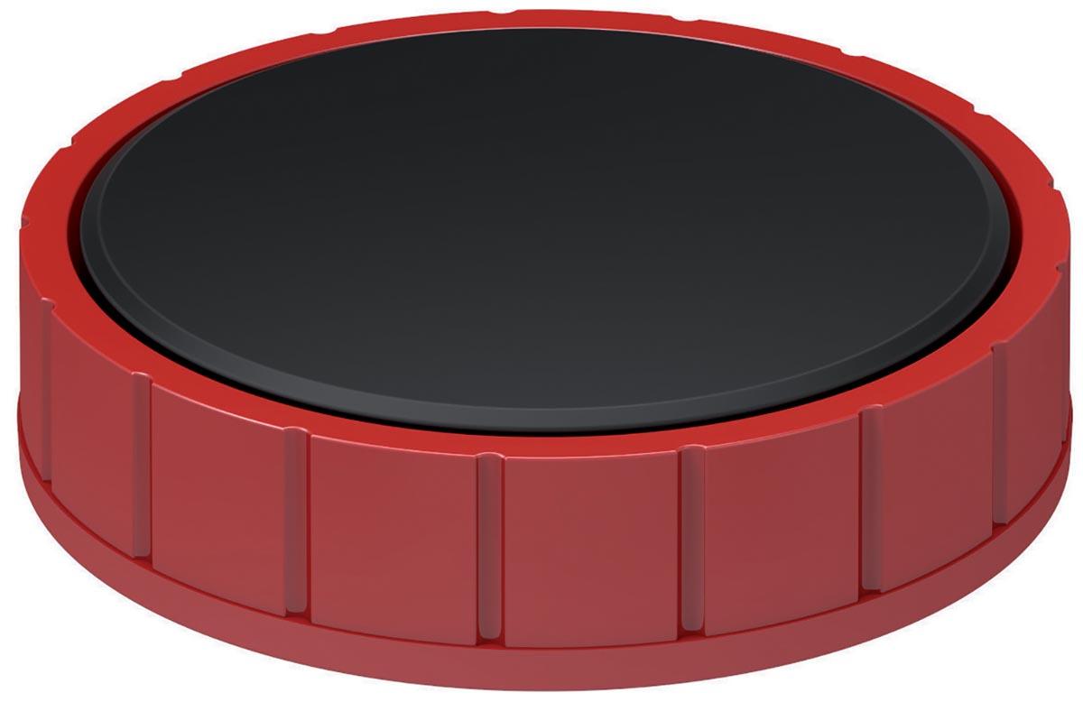 Maul magneet MAULsolid, diameter 38 x 15,5 mm, rood, doos met 10 stuks