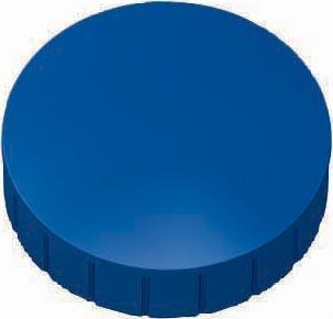 Maul magneet MAULsolid, diameter 38 x 15,5 mm, blauw, doos met 10 stuks