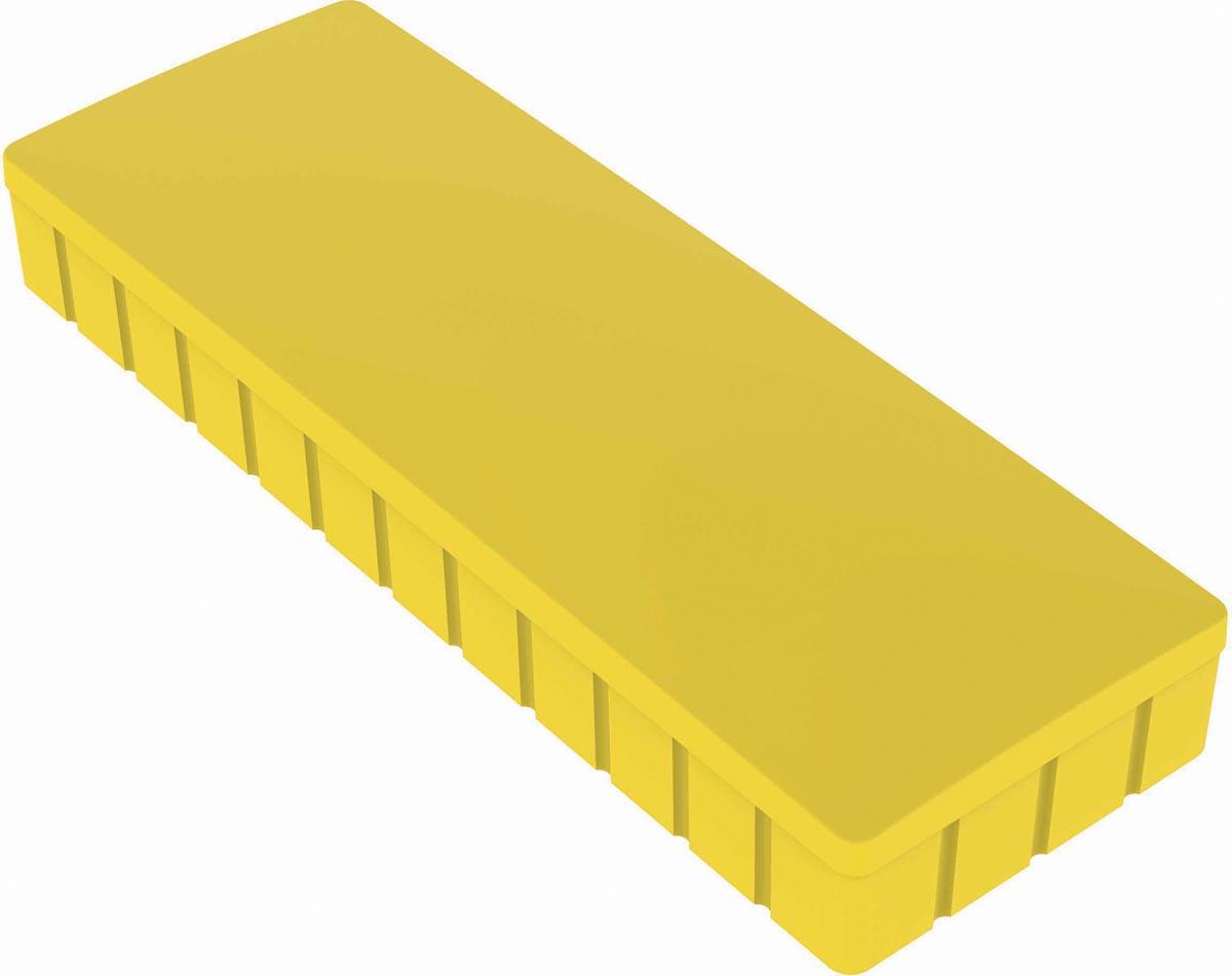Maul magneet MAULsolid, ft 54 x 19 mm, geel, doos van 10 stuks