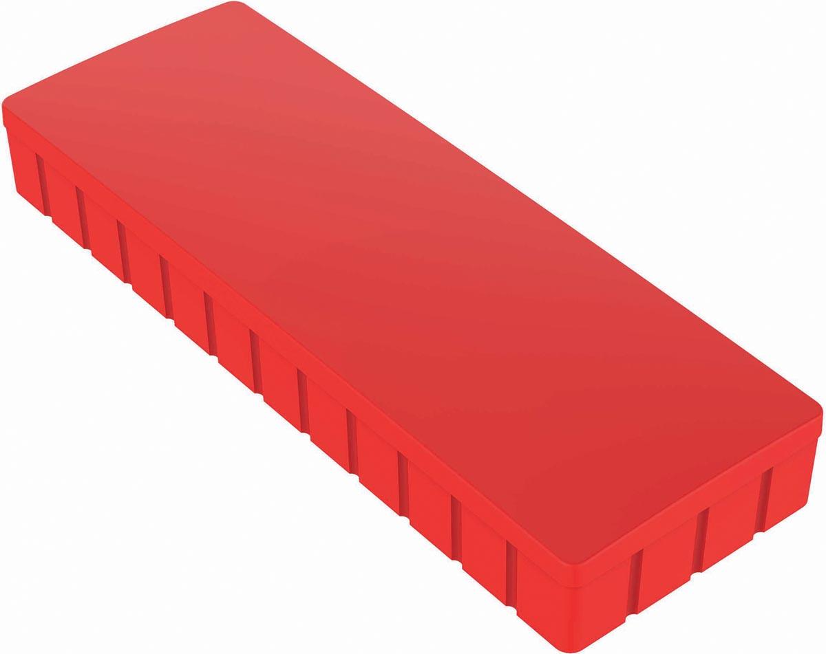 Maul magneet MAULsolid, ft 54 x 19 mm, rood, doos van 10 stuks