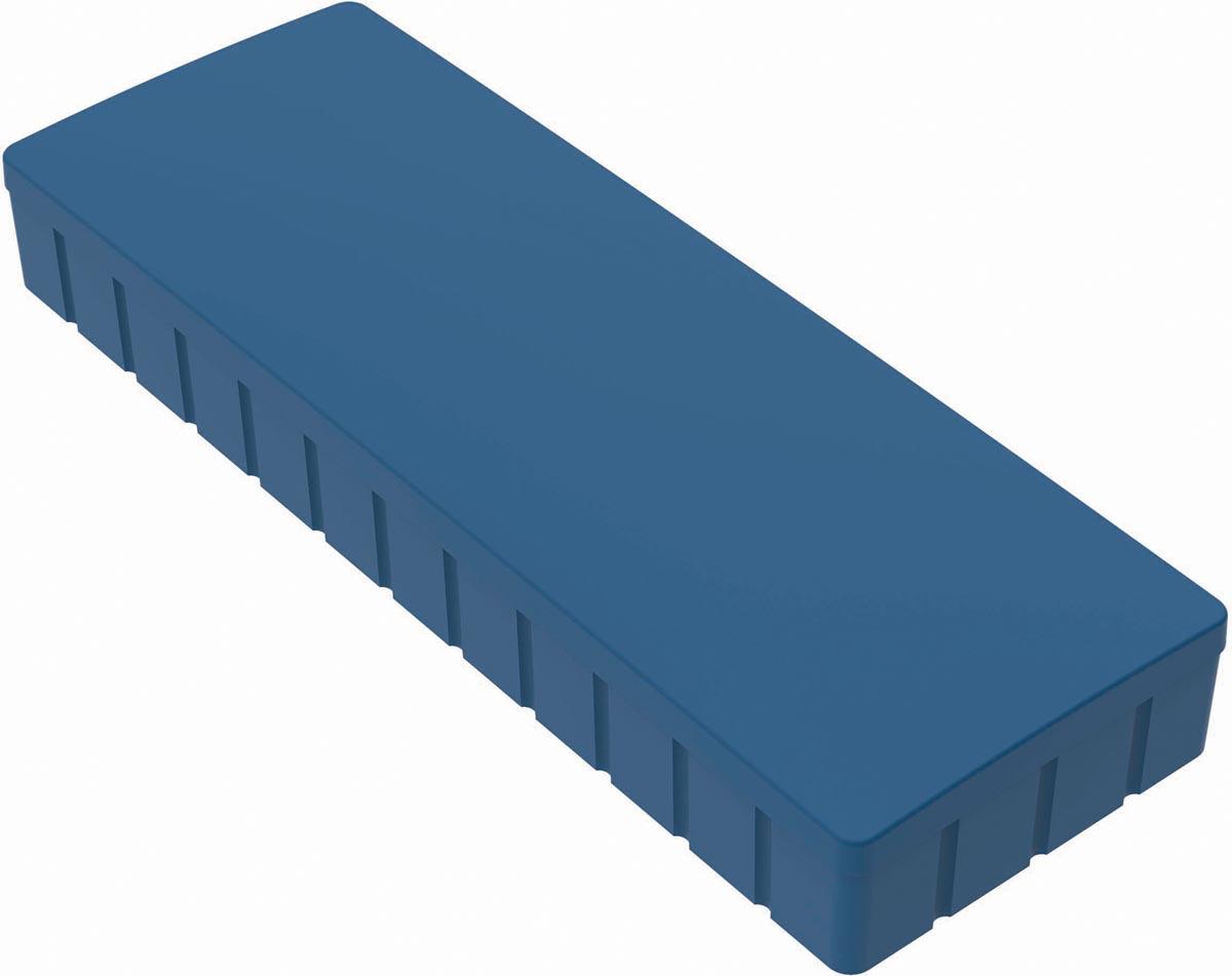 Maul magneet MAULsolid, ft 54 x 19 mm, blauw, doos van 10 stuks