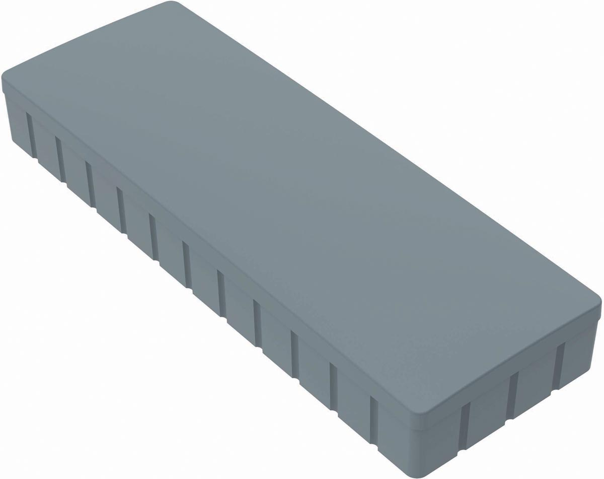Maul magneet MAULsolid, ft 54 x 19 mm, grijs, doos van 10 stuks
