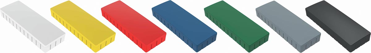Maul magneet MAULsolid, ft 54 x 19 mm, geassorteerde kleuren, doos van 10 stuks