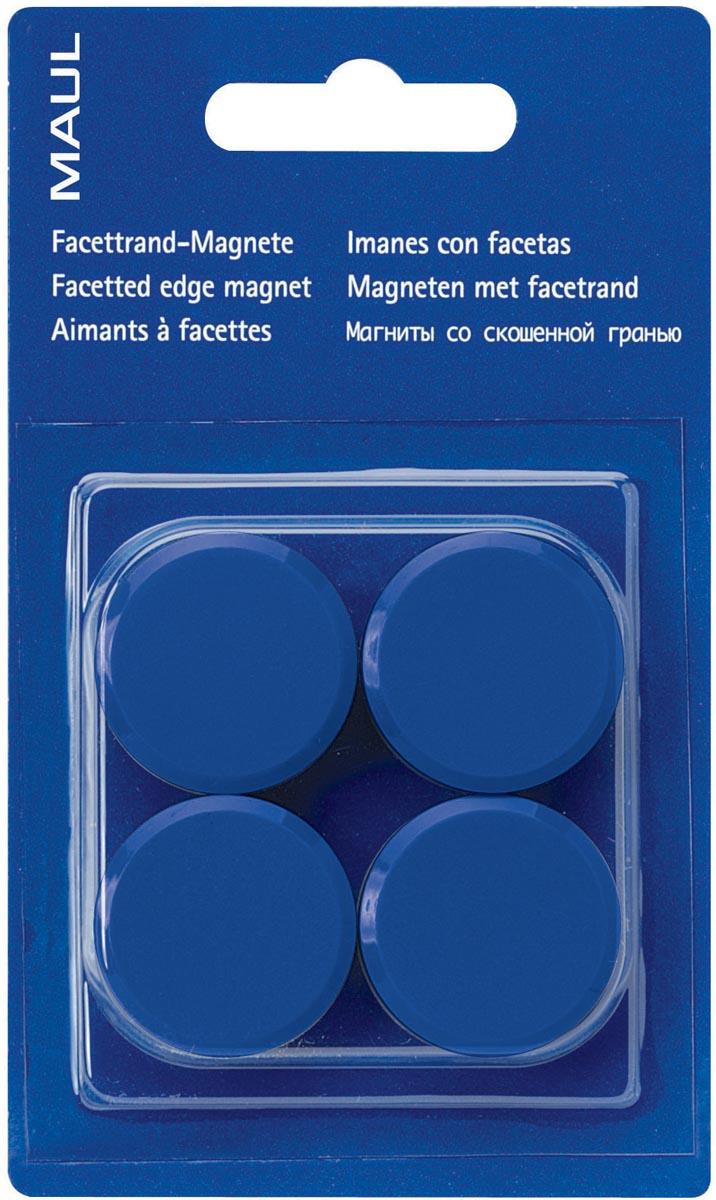 Maul magneet MAULsolid, diameter 20 mm, blauw, blister van 8 stuks